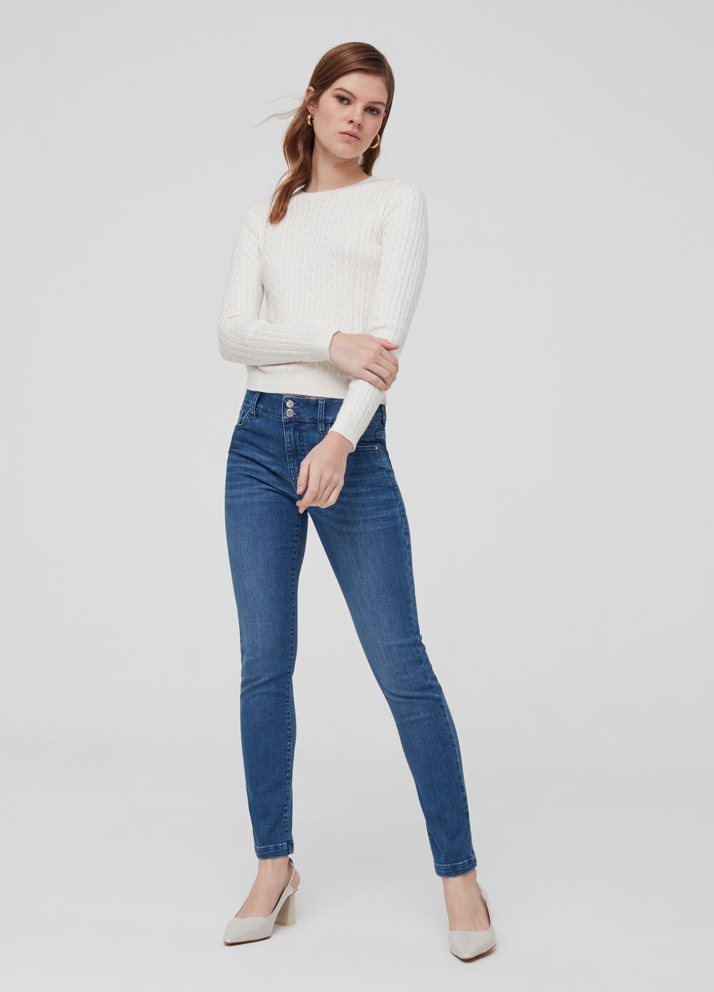 5-pocket, slim-fit jeans