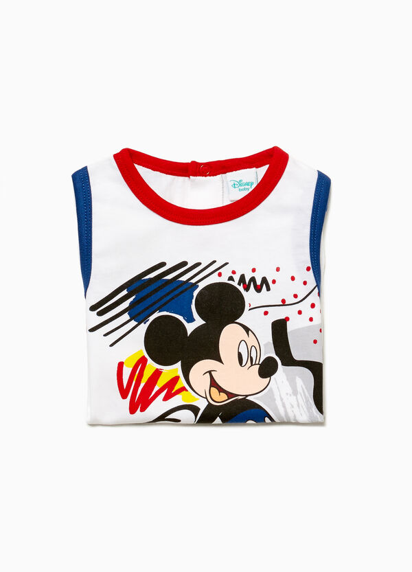 Mickey Mouse print sleep suit