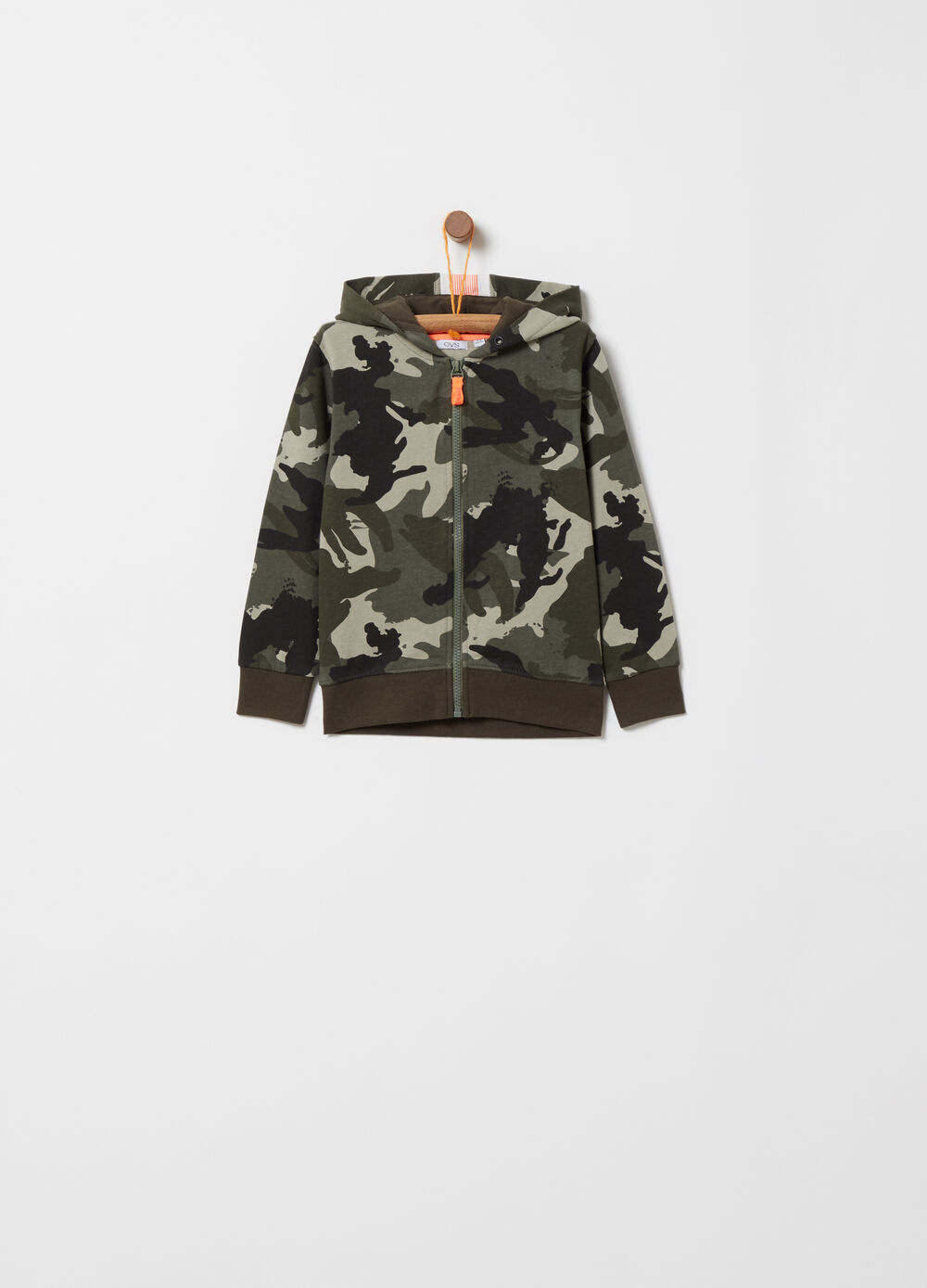 All-over camouflage lightweight sweatshirt