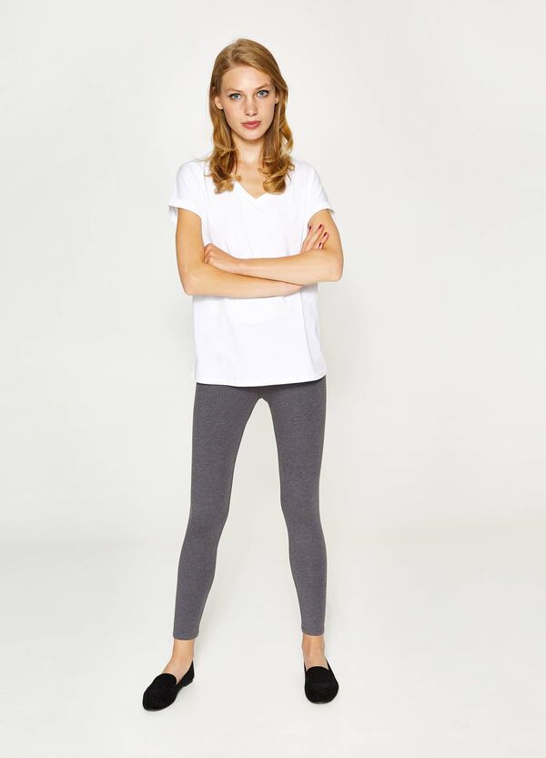 100% stretch cotton leggings | OVS