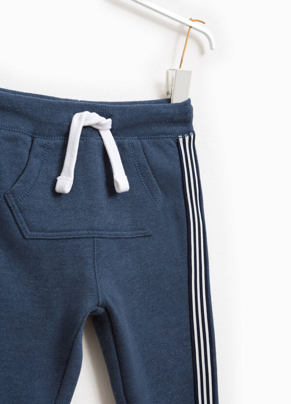 Joggers with side bands