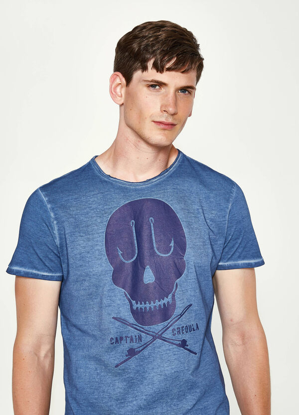 Cotton T-shirt with faded seems | OVS