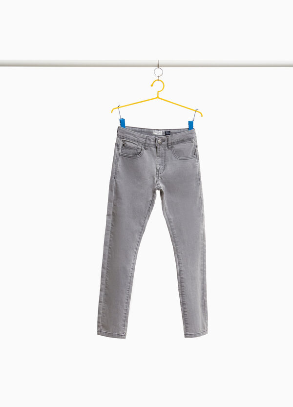 Regular-fit stretch jeans with button