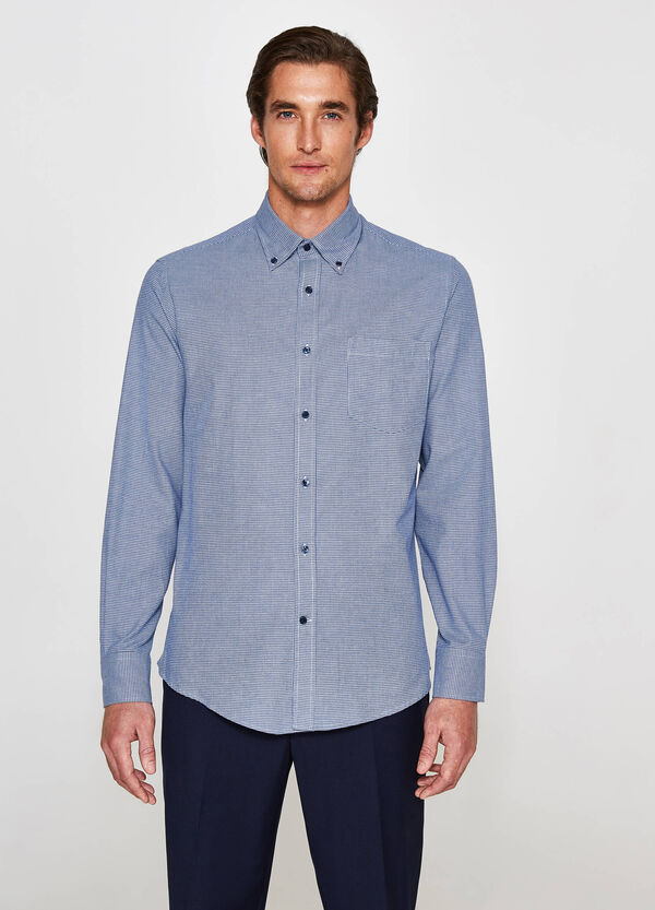 Camicia formale regular fit micro quadri
