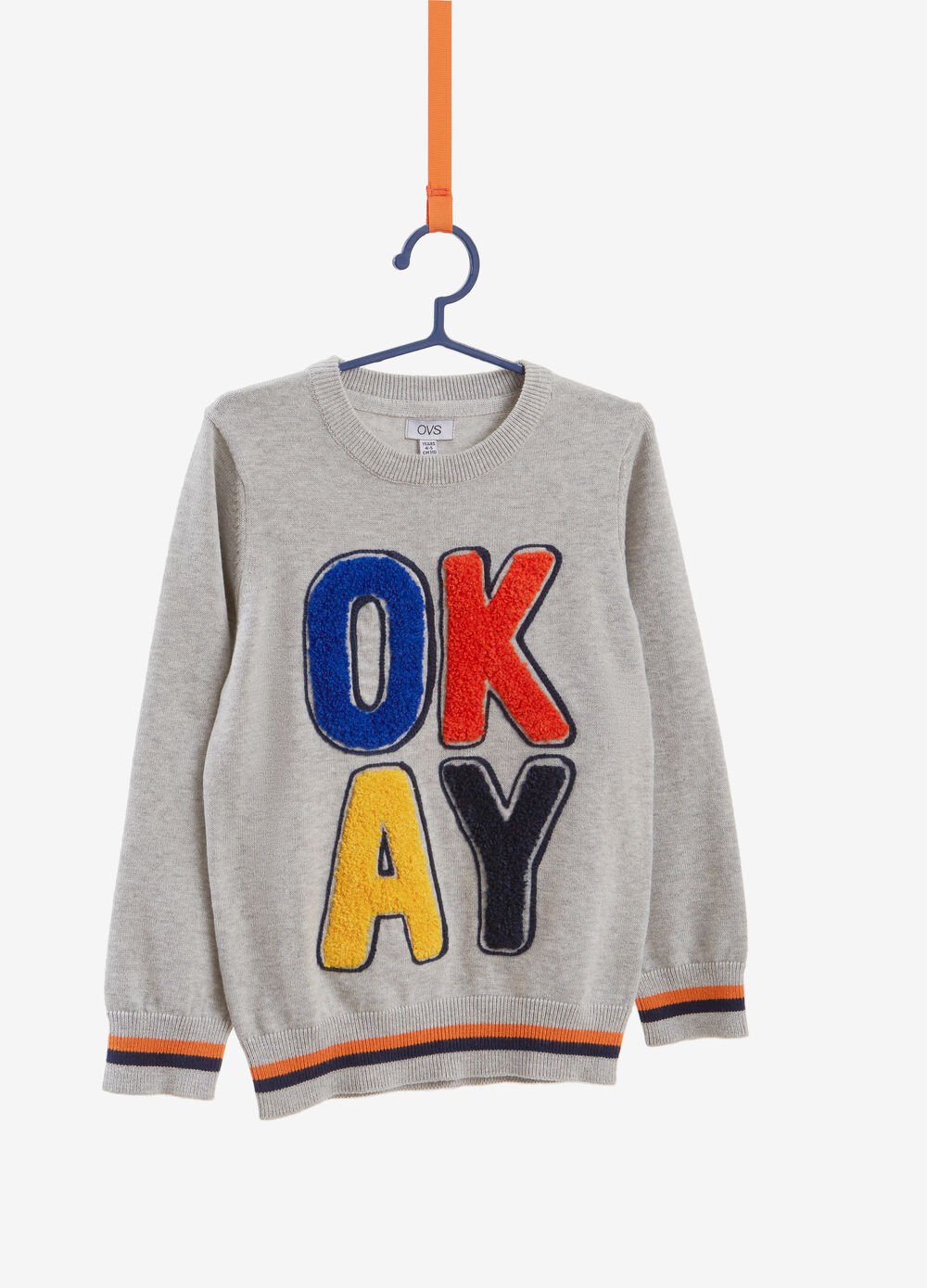 100% cotton pullover with lettering patch