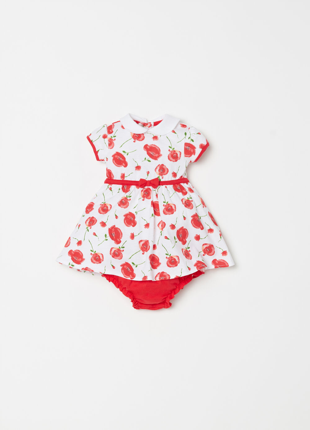 Dress set with floral collar and briefs
