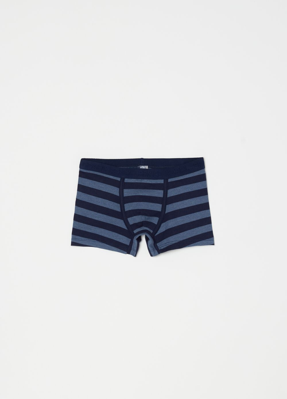 Organic cotton boxer shorts with stripes