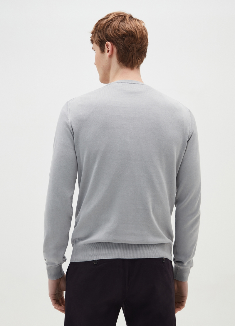 PIOMBO 100% cotton pullover with round neck image number null