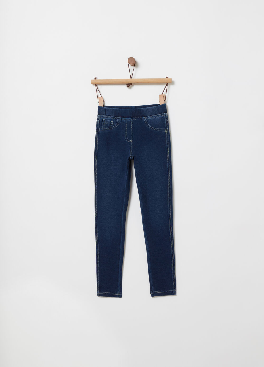 Jeggings French Terry stretch con cintura