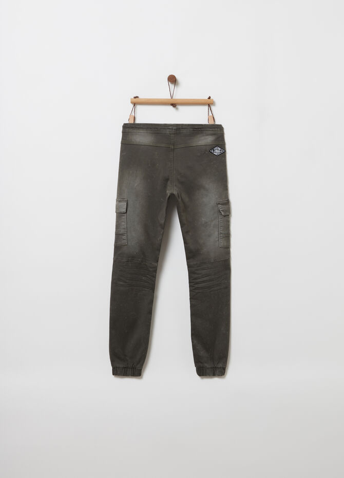 Comfort-fit cargo-cut chino trousers