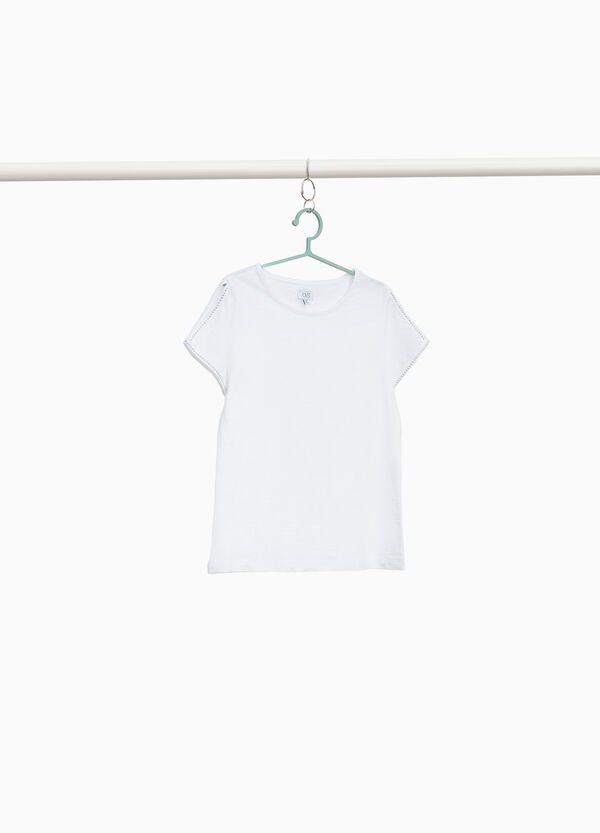 100% cotton T-shirt with opening