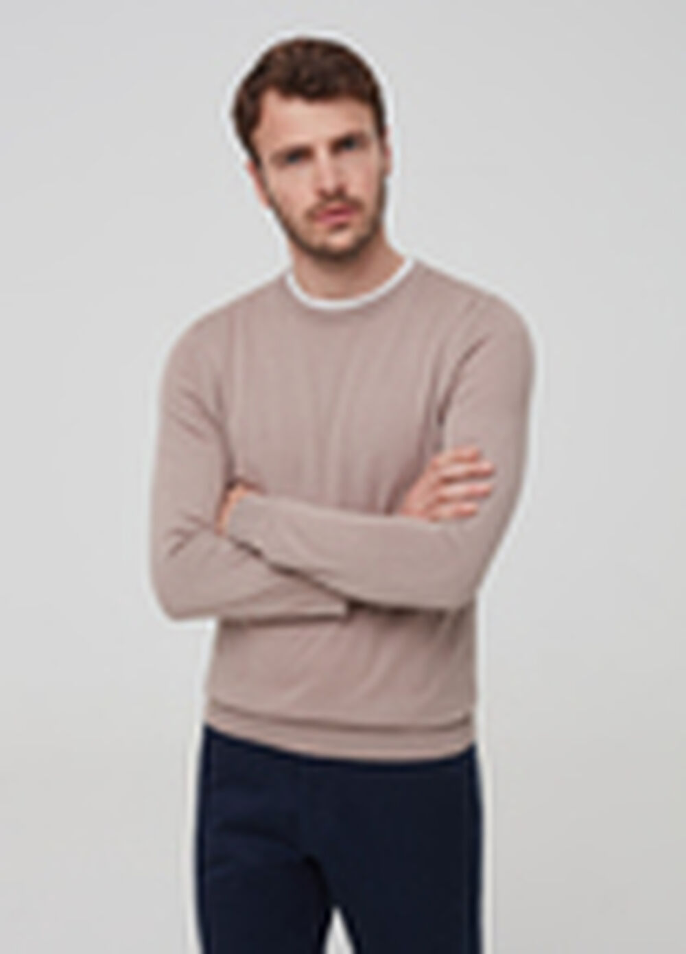 Knitted pullover in cotton and silk