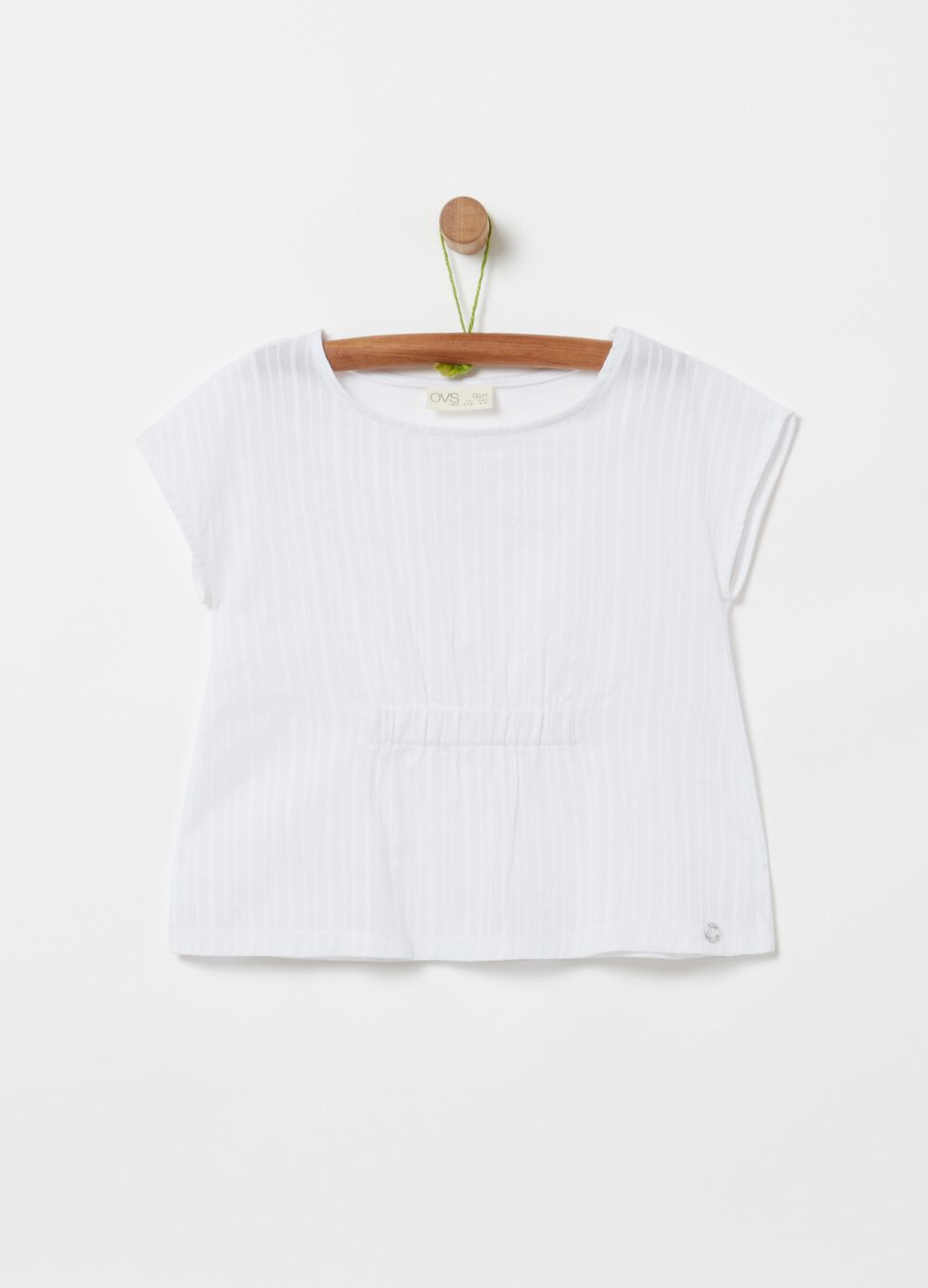 Stretch organic cotton T-shirt