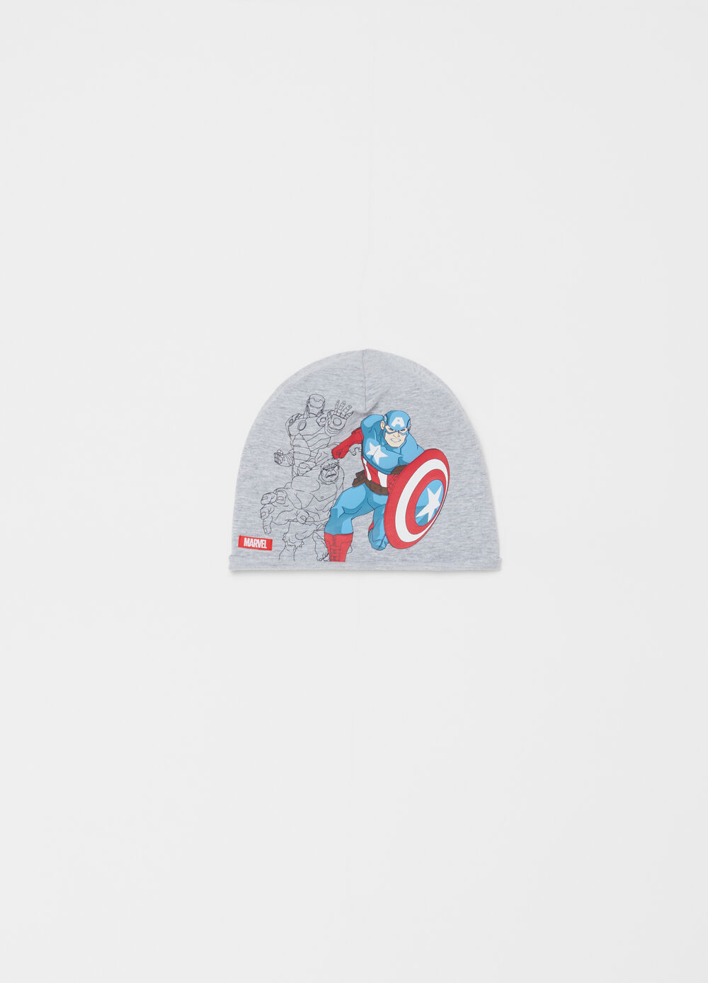 Cotton beret with Capitan America pattern