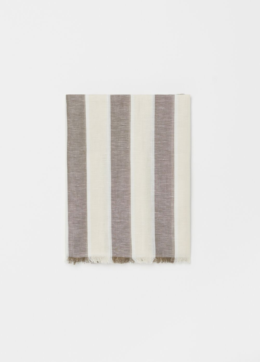 Linen and cotton patterned scarf