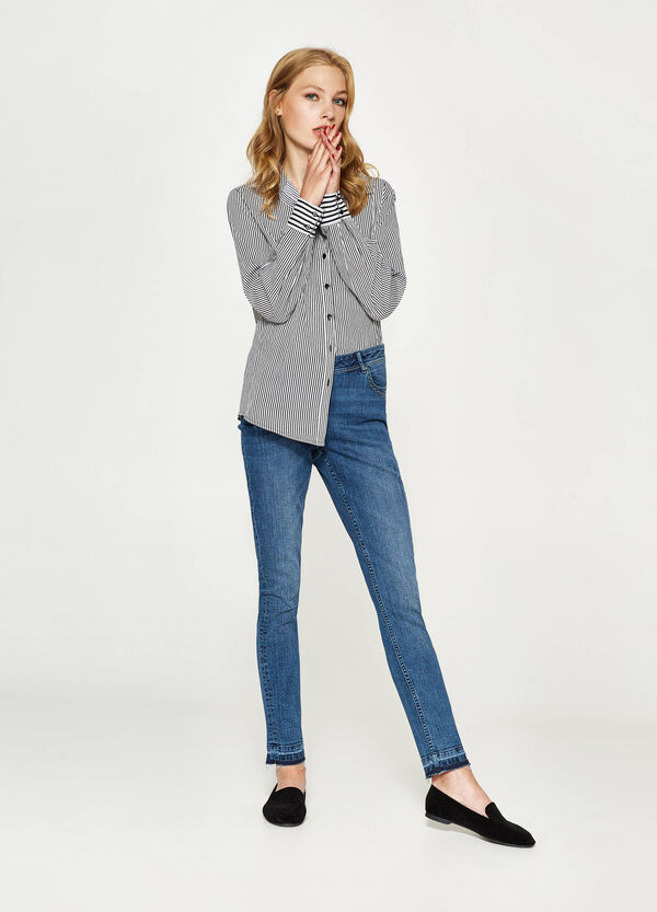 Stretch jeans with fringed hem | OVS