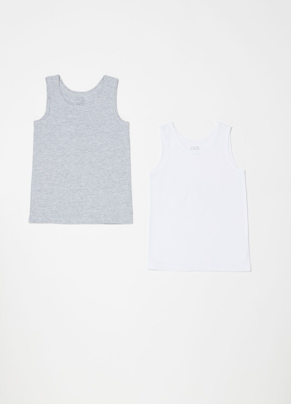 Two-pack solid colour under vest