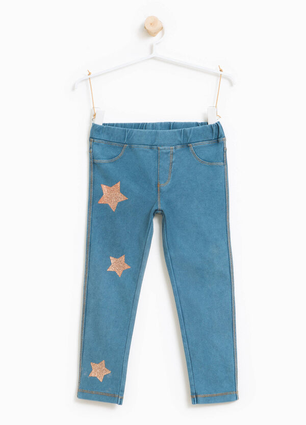 Jeggings stampa stelle glitterate | OVS
