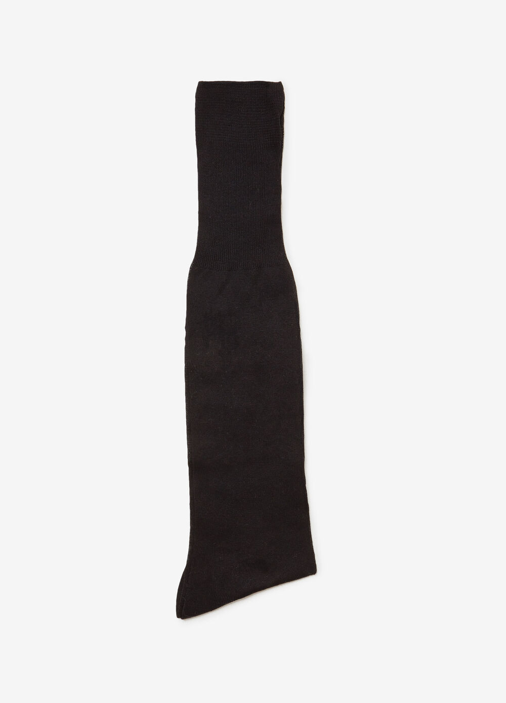Long solid colour socks in sheared lisle cotton