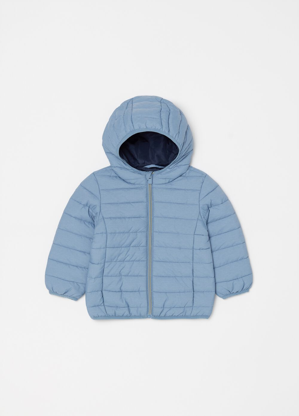 Quilted mélange jacket with zip