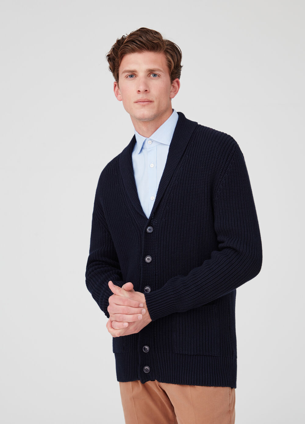 Rumford knitted cardigan with lapels