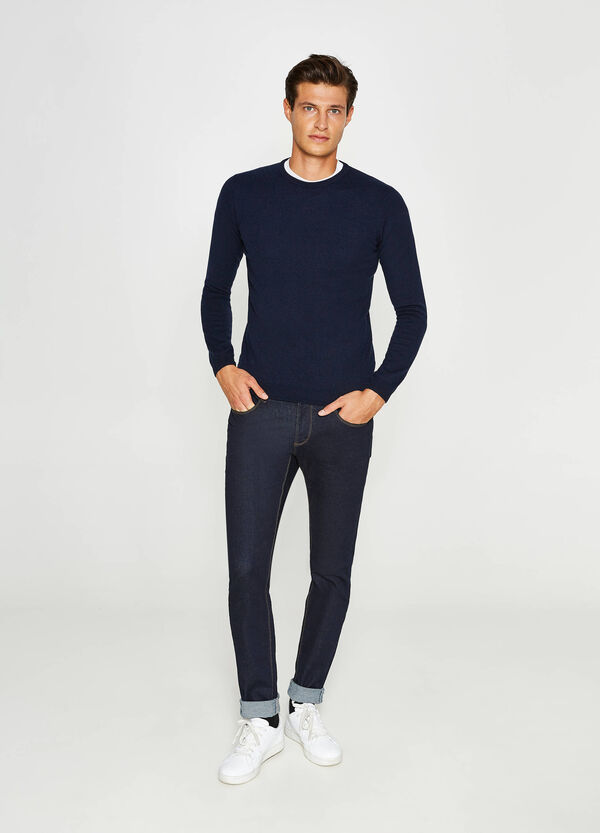 Silk and cashmere pullover with round neck | OVS