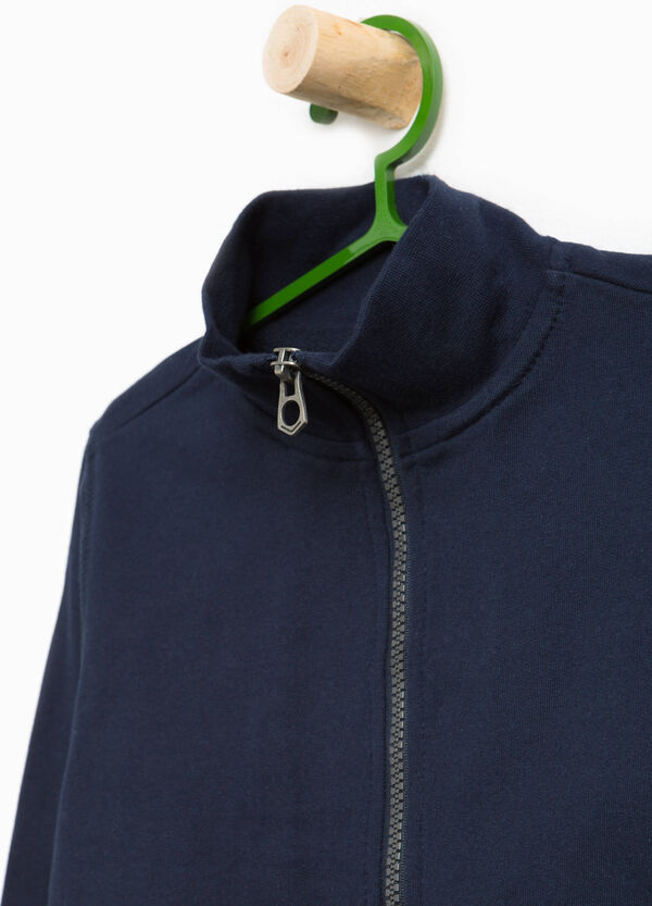 Cotton sweatshirt with high neck | OVS