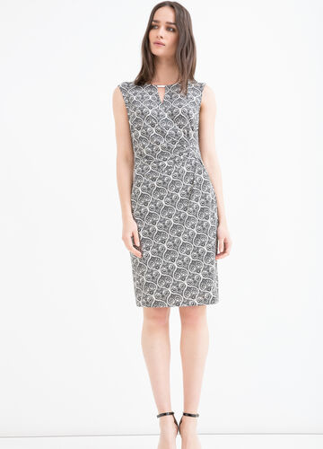 Stretch patterned midi dress