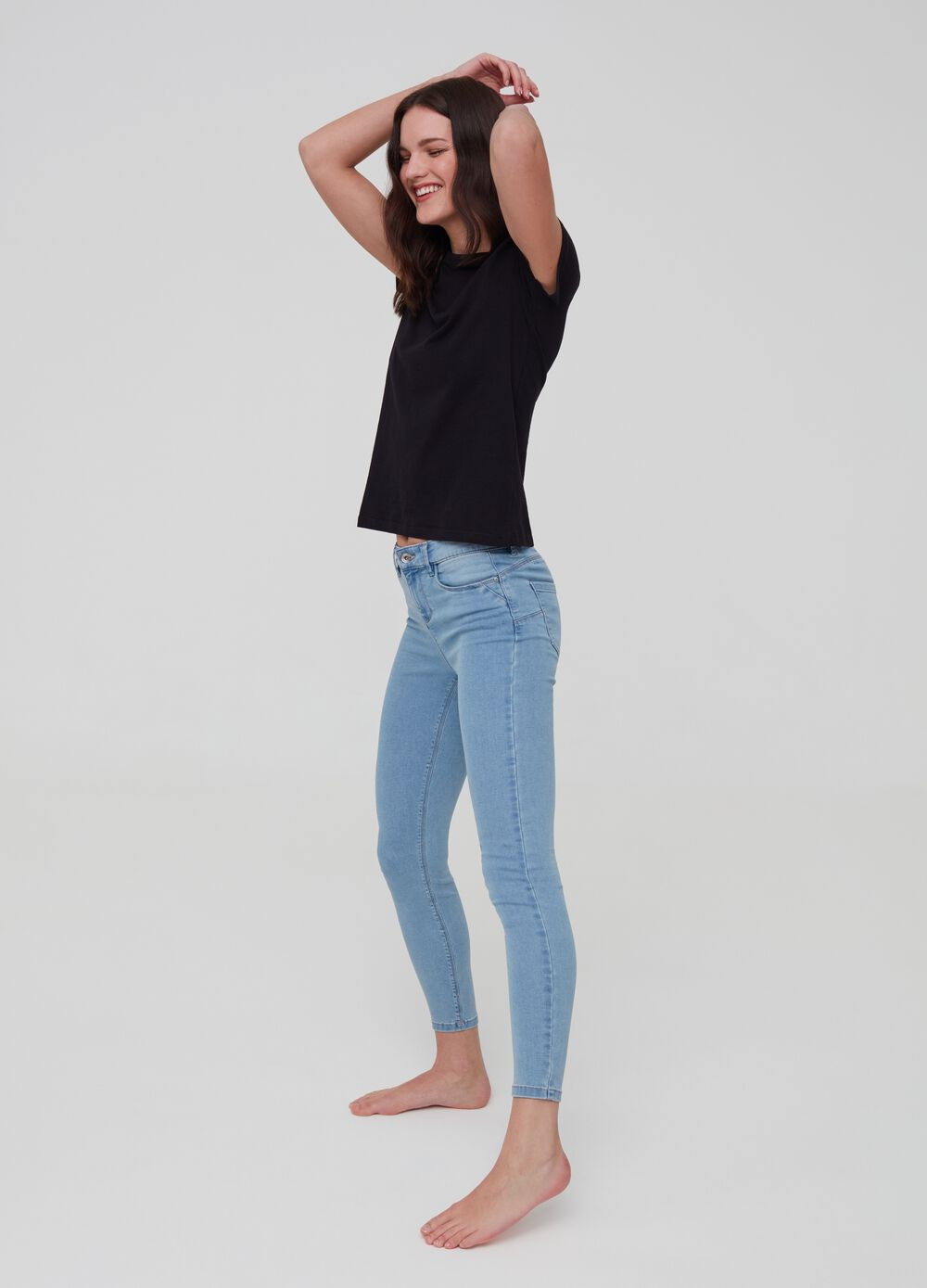 Push-up stretch jeans