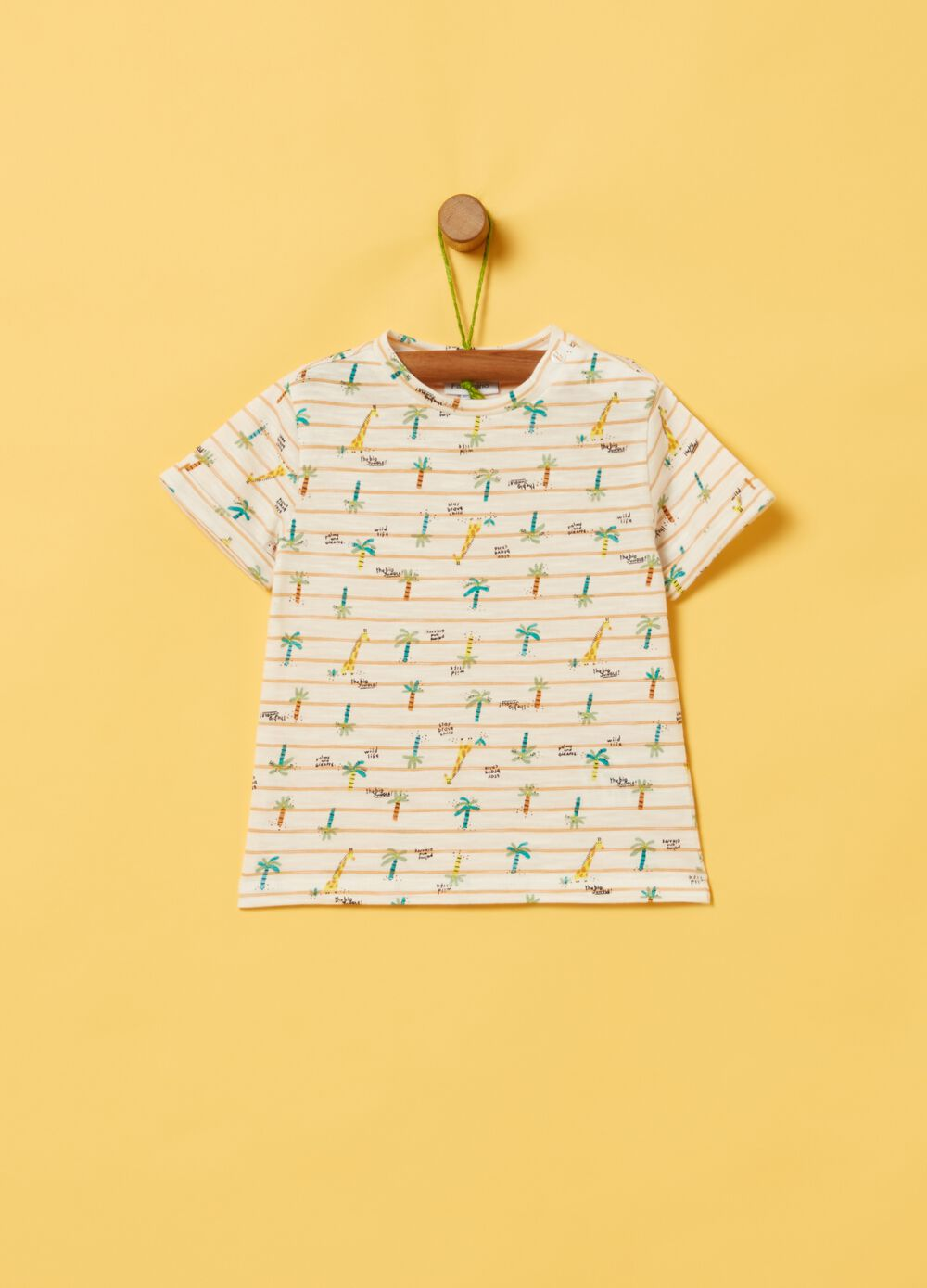 Organic cotton T-shirt with pattern