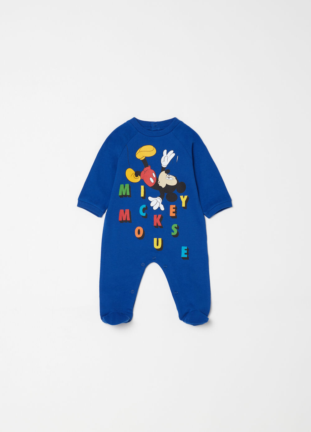 Ribbed Mickey Mouse onesie with feet