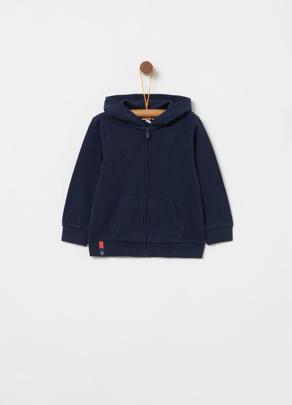 Sweatshirt in 100% cotton with pouch pocket
