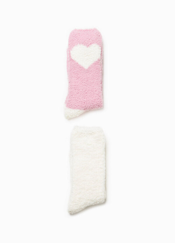 Two-pair pack short printed socks