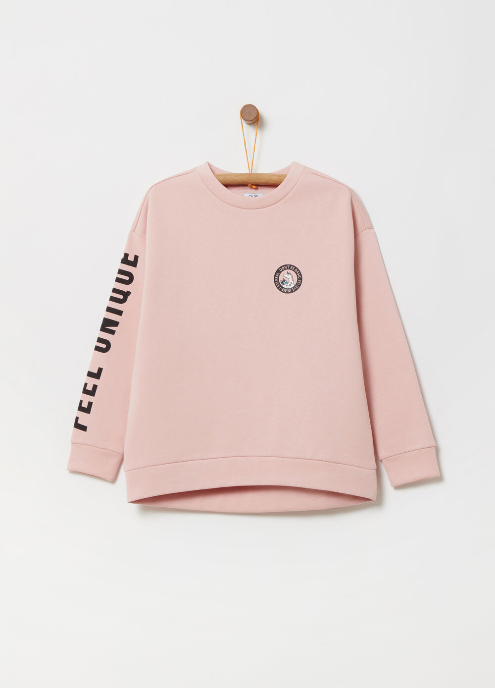 Round neck sweatshirt with print