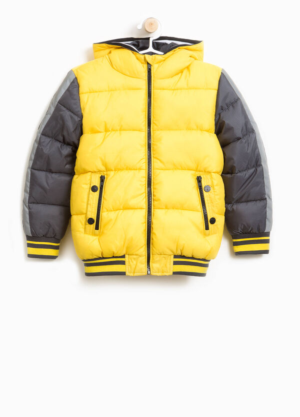 Down jacket with hood and pockets | OVS