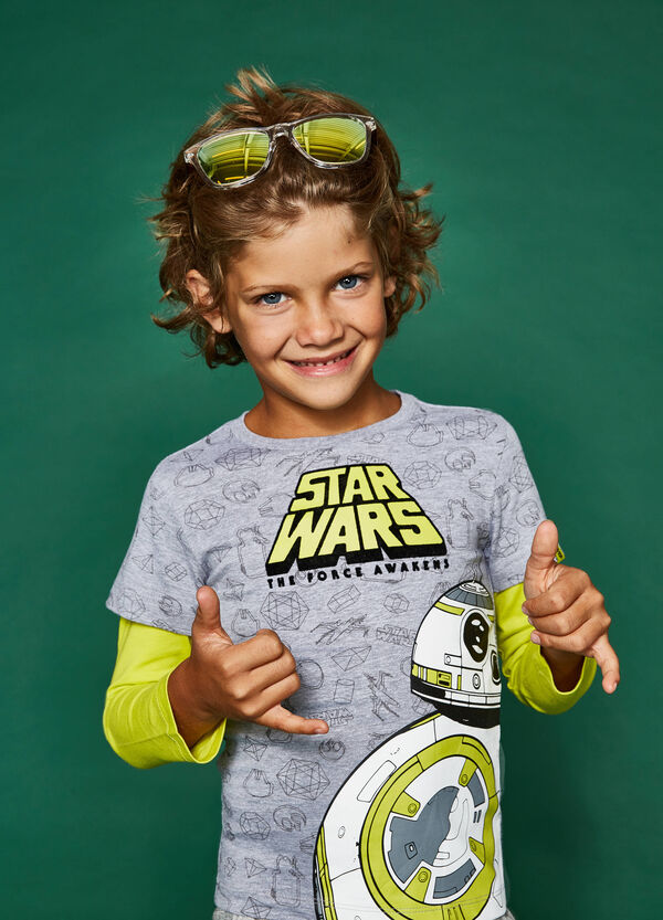Star Wars pattern T-shirt with faux layer | OVS