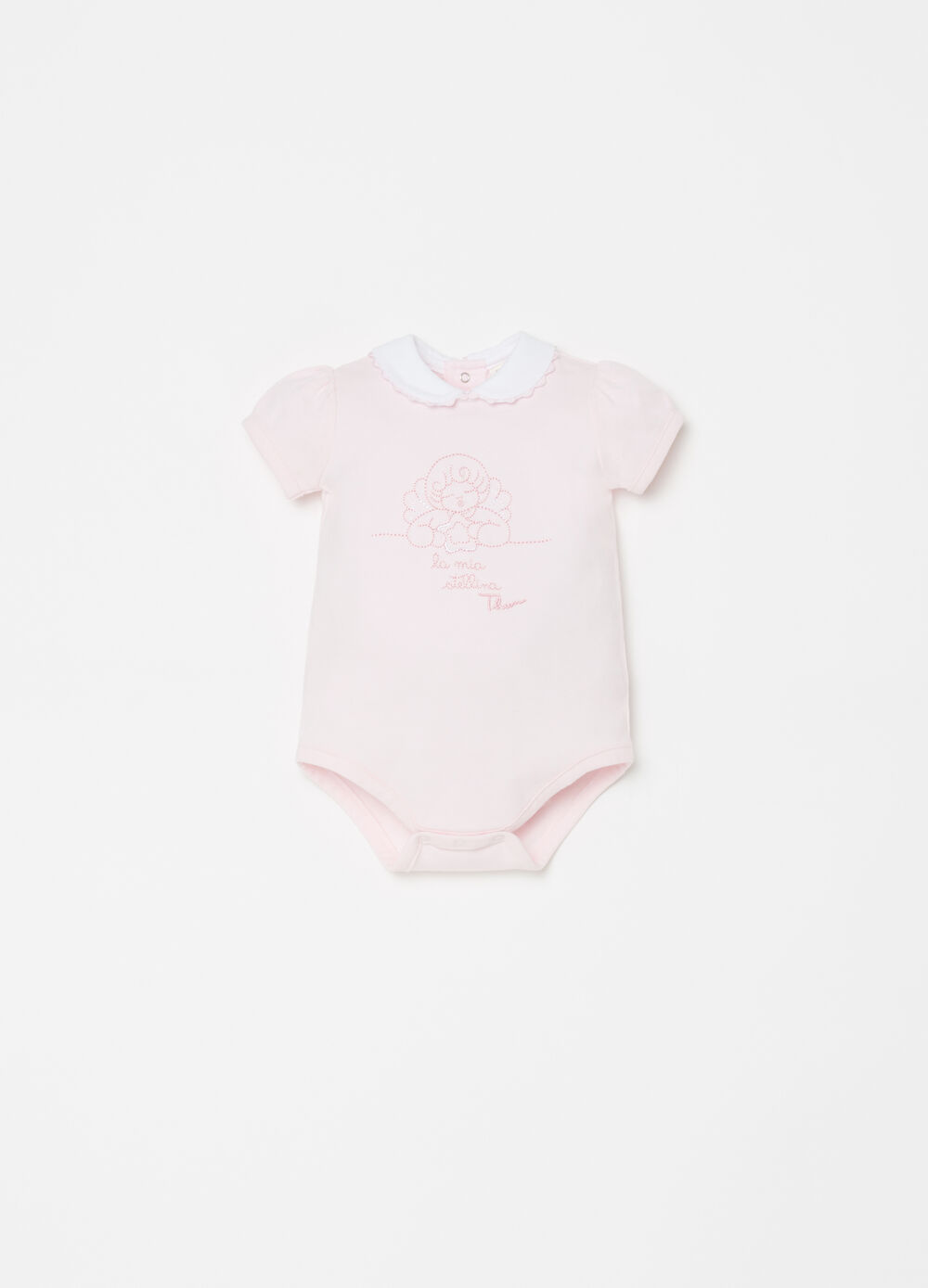 THUN bodysuit in organic cotton with embroidery