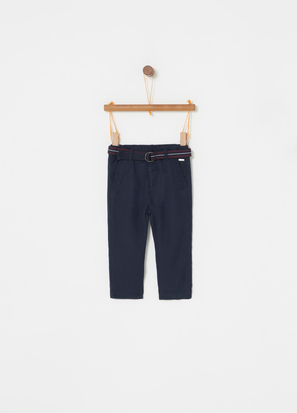 Lyocell trousers with jersey lining