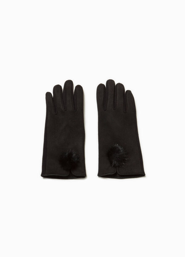 Long gloves with pompoms   OVS