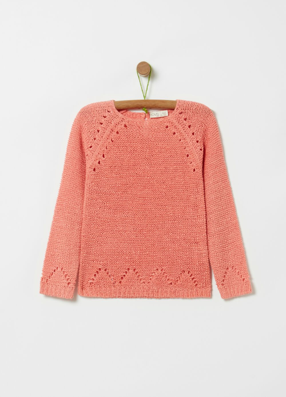 Solid colour knitted top