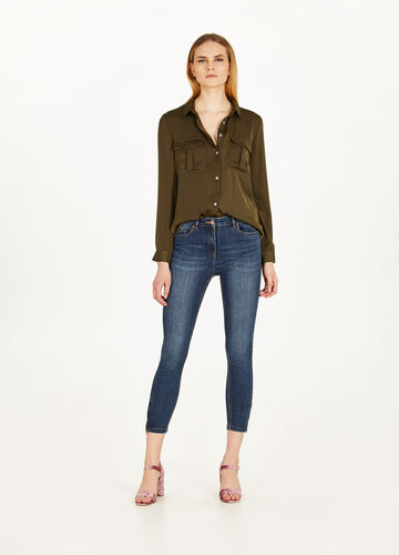 Skinny-fit jeans with zip at the ankles