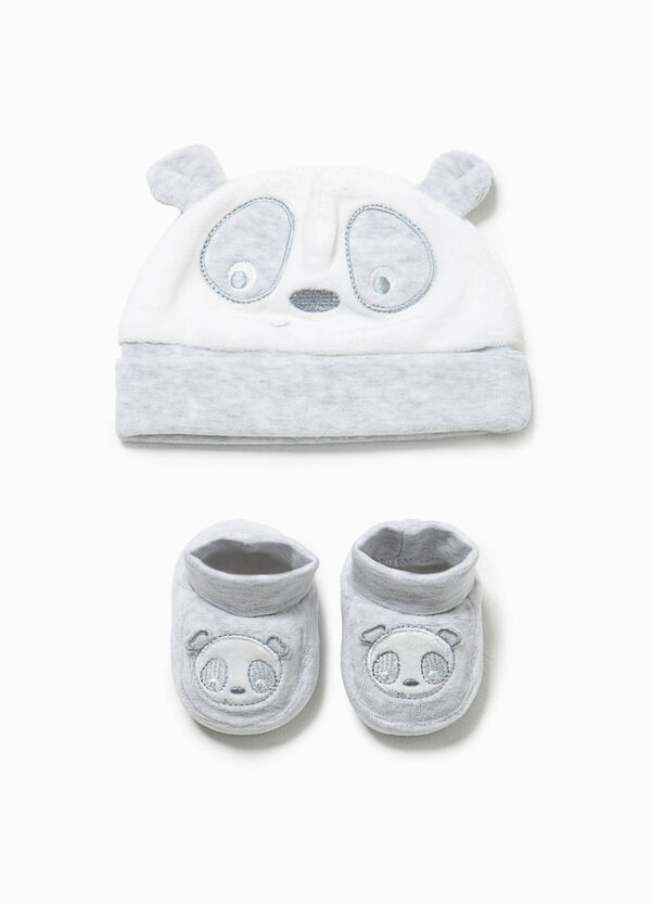 Panda hat and shoes set | OVS
