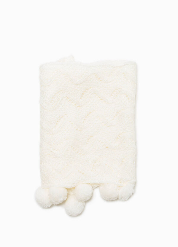 Knitted neck warmer with pompoms   OVS