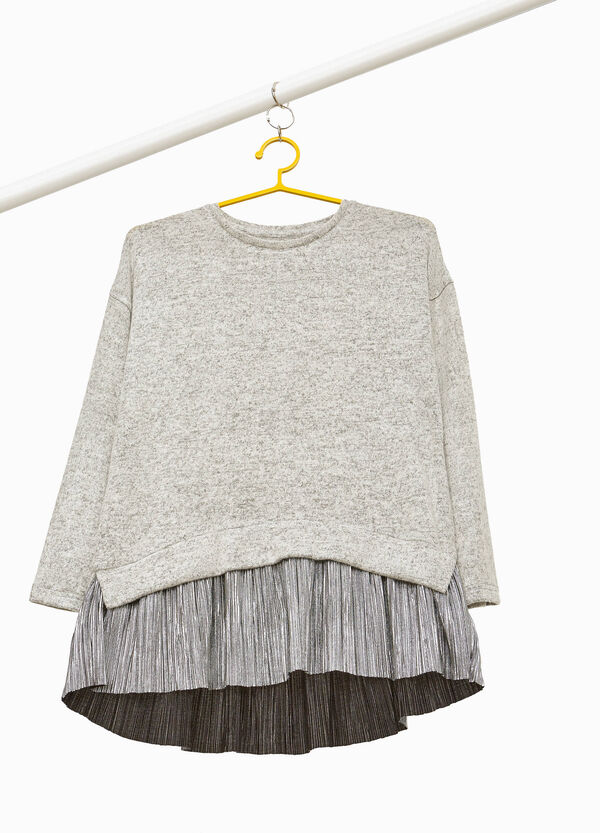 Knitted viscose pullover