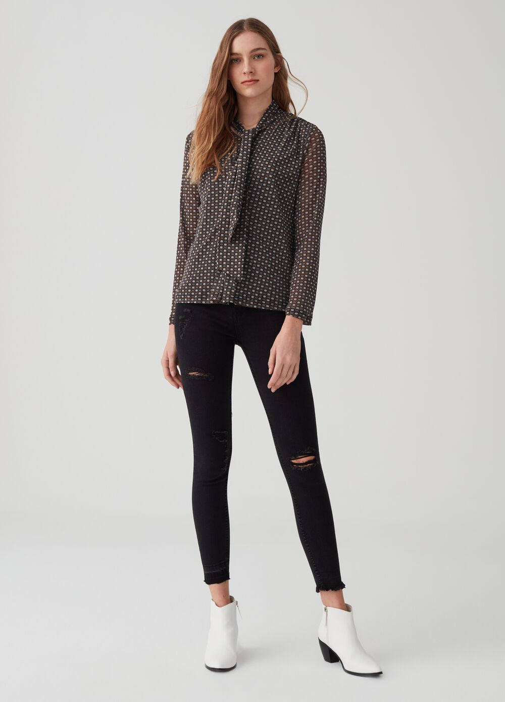 Superskinny jeans with rips