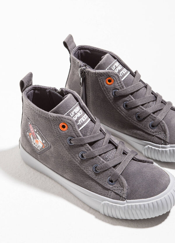 High-top sneakers with speckled upper | OVS