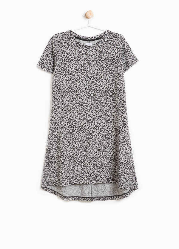 Stretch dress with animal pattern | OVS