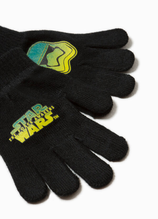 Knitted gloves with Star Wars print | OVS
