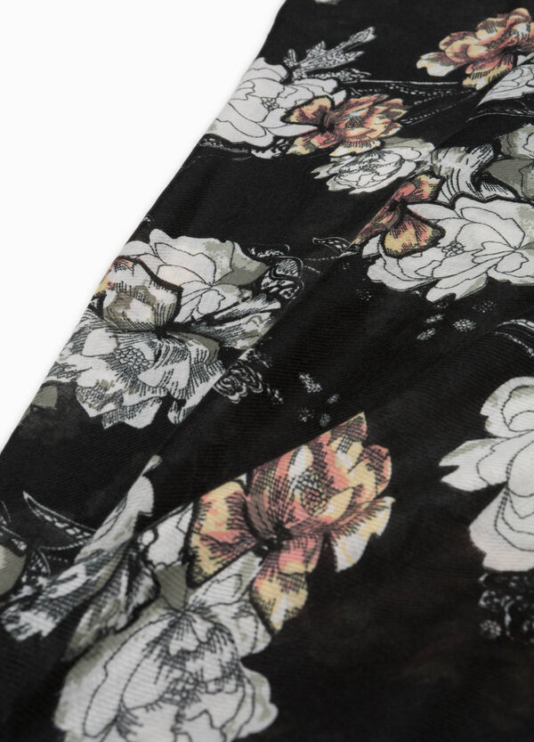 Floral scarf with fringing | OVS