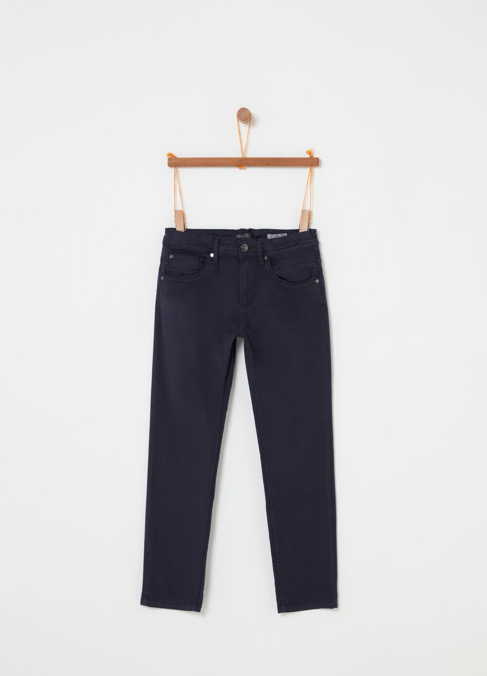 Five-pocket straight-leg jeans